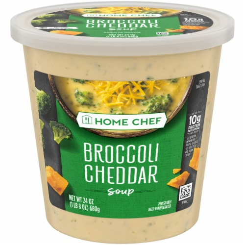 Home Chef Broccoli Cheddar Soup Perspective: front