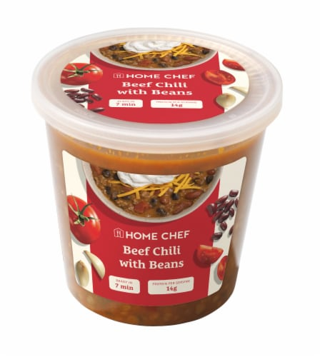 Home Chef Beef Chili with Beans Soup Perspective: front