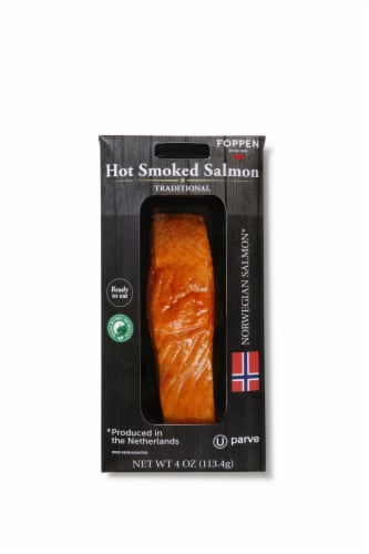 Foppen Hot Smoked Salmon Perspective: front