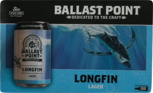 Ballast Point Longfin Lager Beer Perspective: front