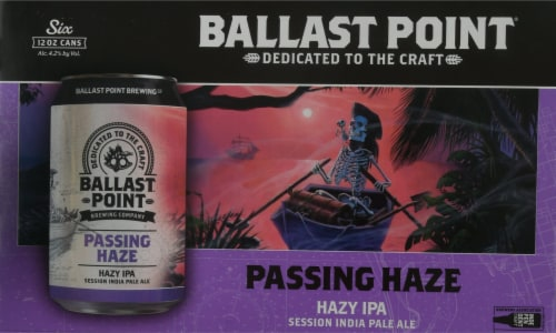 Ballast Point Passing Haze Hazy IPA Beer Perspective: front