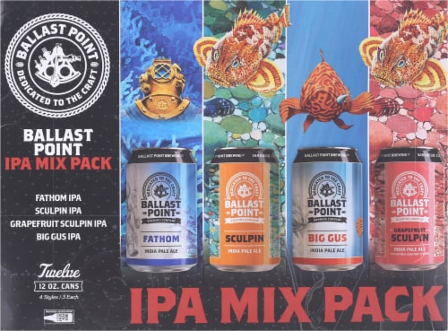 Ballast Point IPA Beer Mix Pack Perspective: front