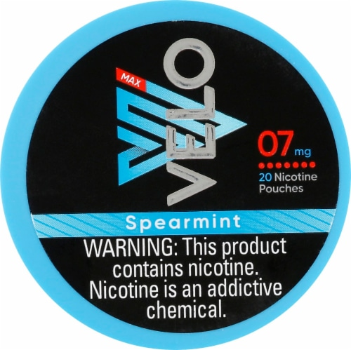 Velo Max Nicotine Pouches - Spearmint Perspective: front