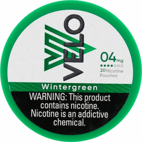 Velo Nicotine Pouches - Wintergreen Perspective: front