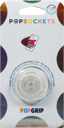 PopSockets Clear PopGrip Perspective: front