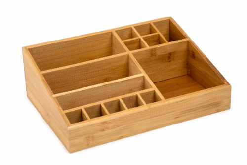 Core Home Large Bamboo Vanity Organizer Perspective: front