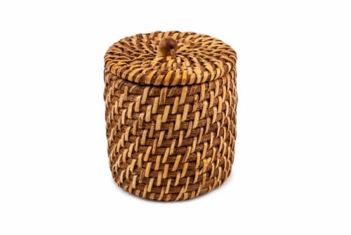 Core Home Small Rattan Canister Perspective: front