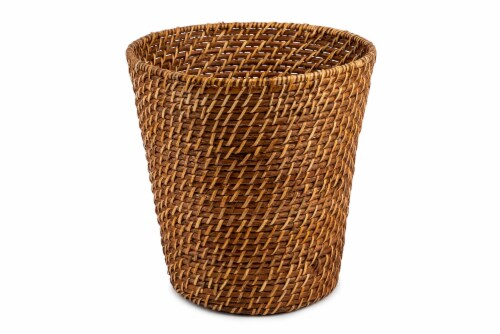 Core Home Rattan Wastecan Perspective: front