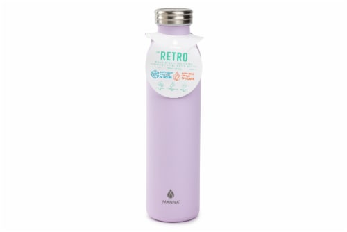 Manna Retro Water Bottle - Lilac Perspective: front