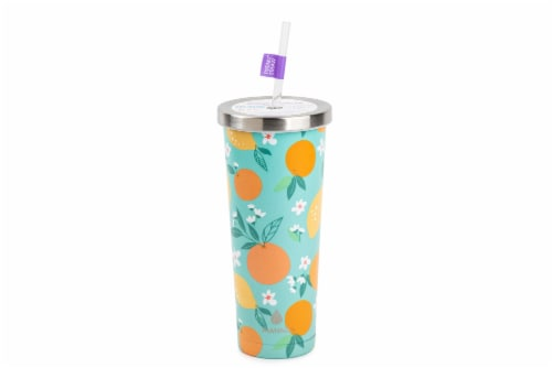 Manna Stainless Steel Chilly Tumbler - Citrus Perspective: front