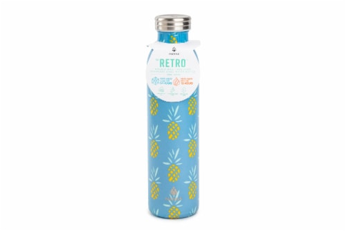 Manna Retro Water Bottle - Pineapple Perspective: front