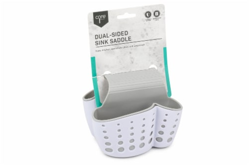 Core Kitchen Sink Caddy - Gray/White Perspective: front