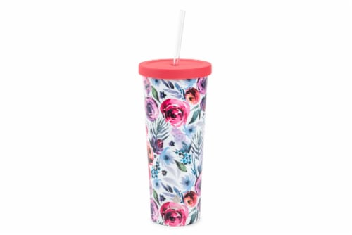 Manna Chilly Floral Tumbler - Pink Perspective: front