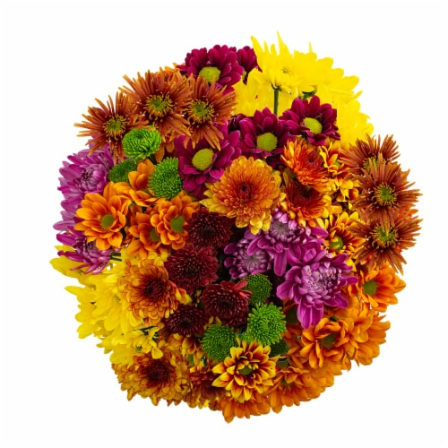 Fall Poms Bouquet Perspective: front