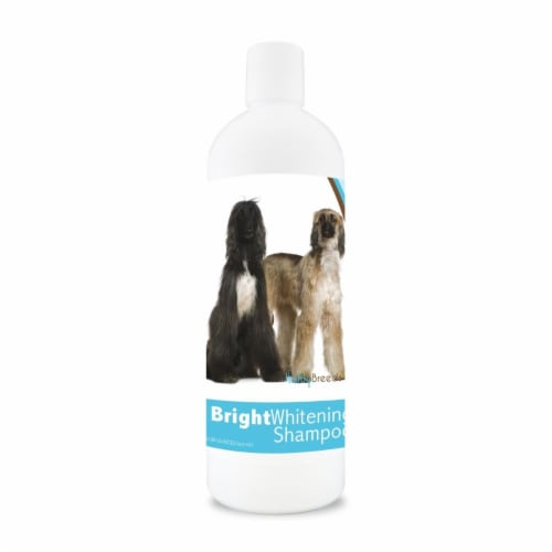 Healthy Breeds 840235100225 12 oz Afghan Hound Bright Whitening Shampoo Perspective: front