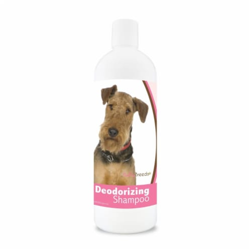 Healthy Breeds 840235100386 16 oz Airedale Terrier Deodorizing Shampoo Perspective: front