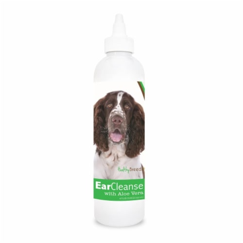 Healthy Breeds 840235106777 8 oz English Springer Spaniel Ear Cleanse with Aloe Vera Cucumber Perspective: front