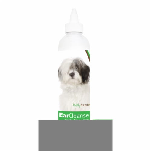 Healthy Breeds 840235114079 8 oz Old English Sheepdog Ear Cleanse with Aloe Vera Cucumber Mel Perspective: front