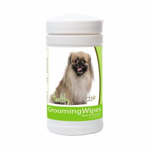Healthy Breeds 840235151203 Pekingese Grooming Wipes Perspective: front