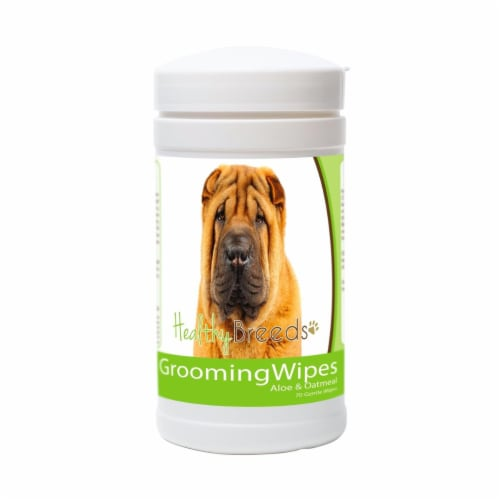 Healthy Breeds 840235151401 Chinese Shar Pei Grooming Wipes Perspective: front