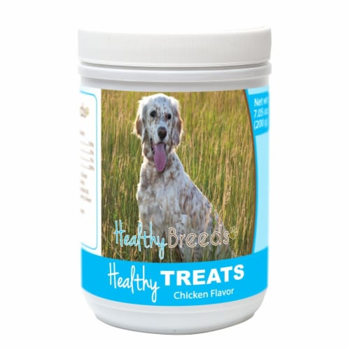 Healthy Breeds 840235155164 English Setter Healthy Soft Chewy Dog Treats Perspective: front