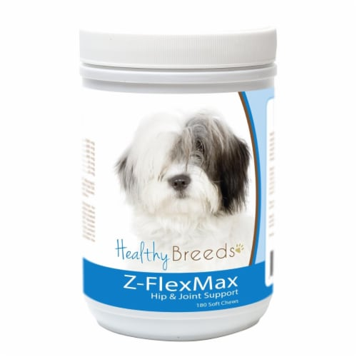 Healthy Breeds 840235156086 Old English Sheepdog Z-Flex Max Dog Hip & Joint Support - 180 Cou Perspective: front