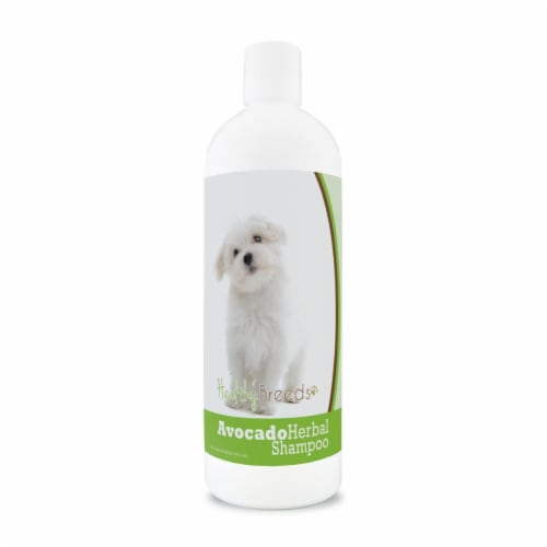 Healthy Breeds 840235156437 Maltese Avocado Herbal Dog Shampoo Perspective: front