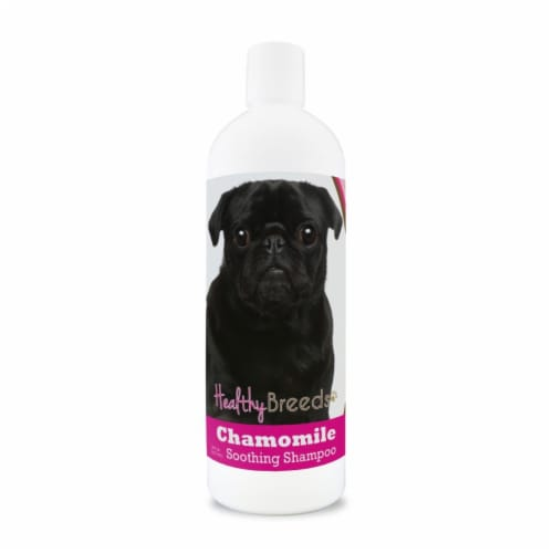Healthy Breeds 840235162148 8 oz Pug Chamomile Soothing Dog Shampoo Perspective: front