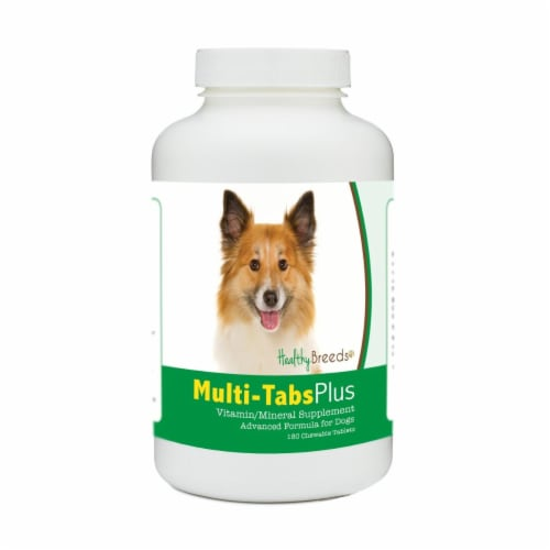 Healthy Breeds 840235172222 Icelandic Sheepdog Multi-Tabs Plus Chewable Tablets - 180 Count Perspective: front
