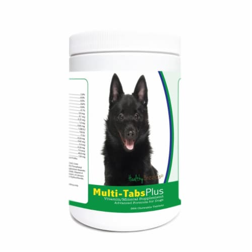 Healthy Breeds 840235173878 Schipperke Multi-Tabs Plus Chewable Tablets - 365 Count Perspective: front