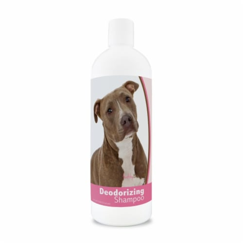 Healthy Breeds 840235180463 16 oz Pit Bull Deodorizing Shampoo Perspective: front