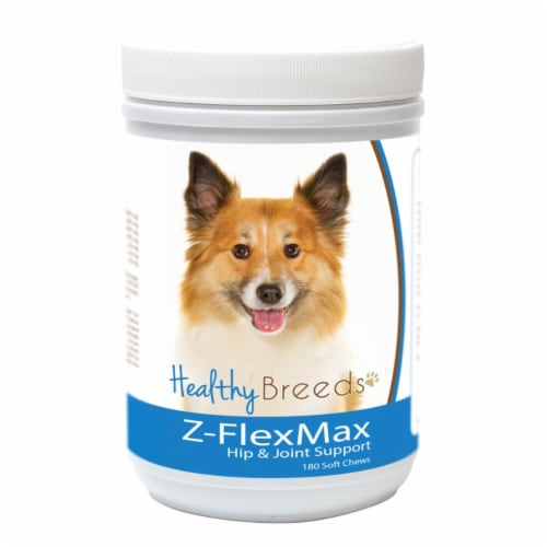 Healthy Breeds 840235188155 Icelandic Sheepdog Z-Flex Max Dog Hip & Joint Support Perspective: front