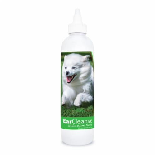 Healthy Breeds 840235197164 8 oz American Eskimo Dog Ear Cleanse with Aloe Vera Cucumber Melo Perspective: front