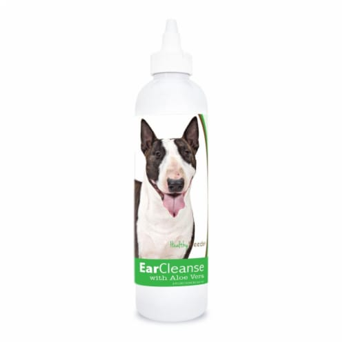 Healthy Breeds 840235197270 8 oz Miniature Bull Terrier Ear Cleanse with Aloe Vera Cucumber M Perspective: front