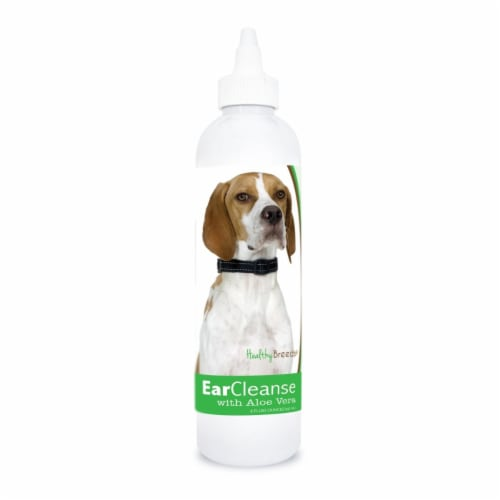 Healthy Breeds 840235197348 8 oz English Pointer Ear Cleanse with Aloe Vera Cucumber Melon Perspective: front