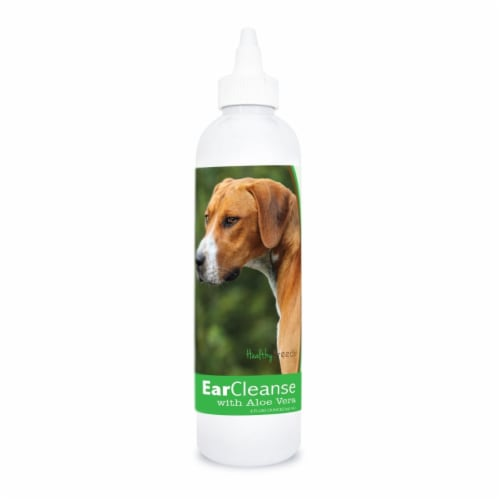 Healthy Breeds 840235197645 8 oz English Foxhound Ear Cleanse with Aloe Vera Cucumber Melon Perspective: front