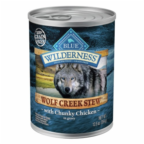 Blue Wilderness Wolf Creek Stew with Chicken Wet Dog Food Perspective: front