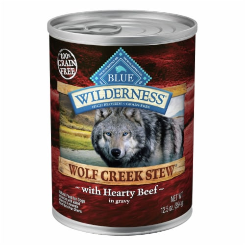 Blue Wilderness Wolf Creek Hearty Beef Stew Wet Dog Food Perspective: front
