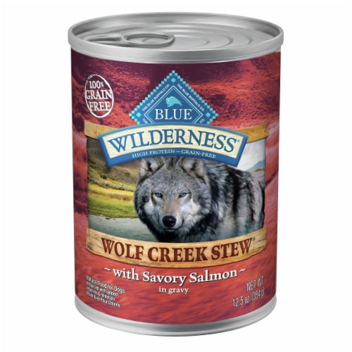 Blue Wilderness Wolf Creek Stew with Salmon Wet Dog Food Perspective: front