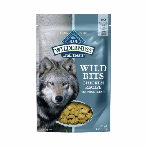 Blue Wilderness Trail Treats Chicken Wild Bits Dog Treats Perspective: front