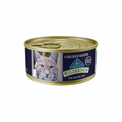 Blue Wilderness Chicken Recipe Wet Food for Mature Cats Perspective: front