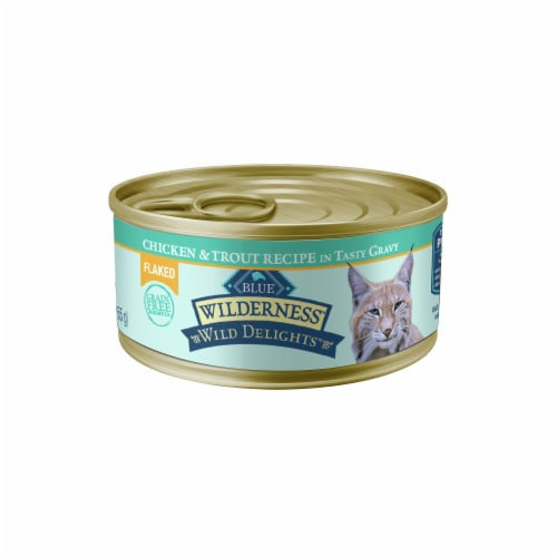 Blue Buffalo Wilderness Wild Delights Flaked Chicken & Trout Wet Cat Food Perspective: front