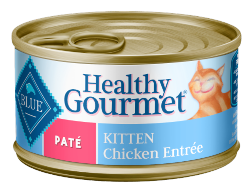 Blue Buffalo Healthy Gourmet Kitten Chicken Pate Wet Cat Food Perspective: front