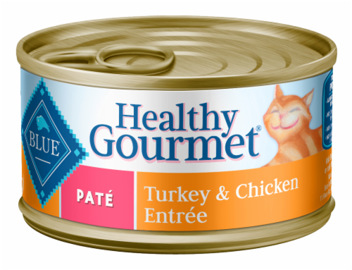 Blue Buffalo Healthy Gourmet Adult Cat Food Turkey & Chicken Pate Perspective: front