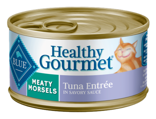 Blue Buffalo Healthy Gourmet Meaty Morsels Tuna Entree in Savory Sauce Adult Cat Food Perspective: front