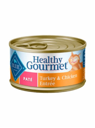 Blue Buffalo Healthy Gourmet Pate Turkey & Chicken Entree Cat Food Perspective: front