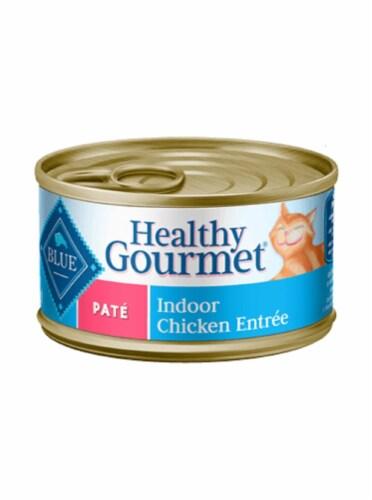 Blue Buffalo Healthy Gourmet Chicken Pate Indoor Wet Cat Food Perspective: front
