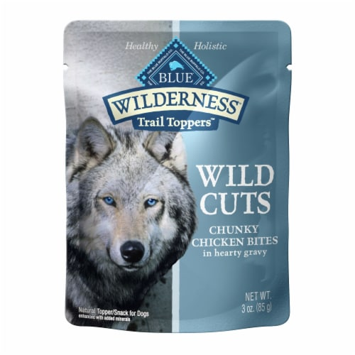 Blue Wilderness Trail Toppers Wild Cuts Chunky Chicken Bites Wet Dog Food Perspective: front
