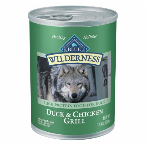 Blue Wilderness Duck & Chicken Grill Wet Dog Food Perspective: front