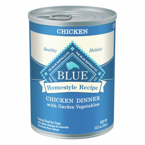 Blue Buffalo Chicken Dinner Homestyle Recipe Natural Dog Food Perspective: front